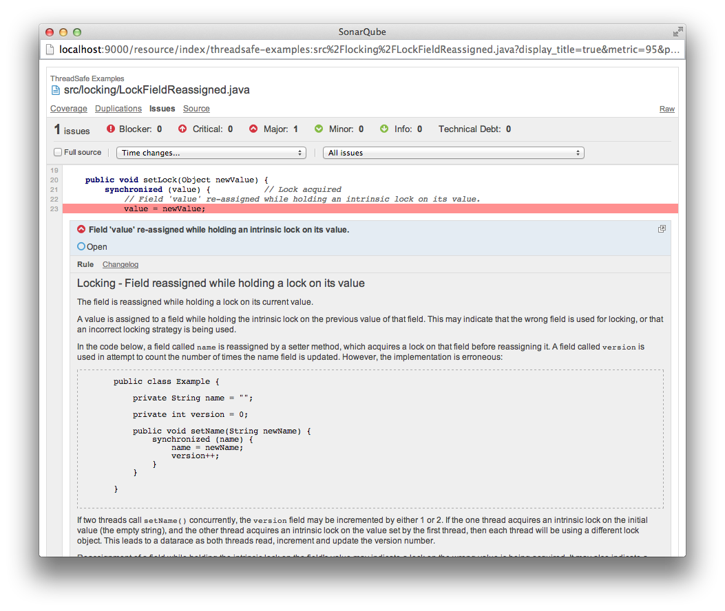 Find Java concurrency bugs in SonarQube with ThreadSafe